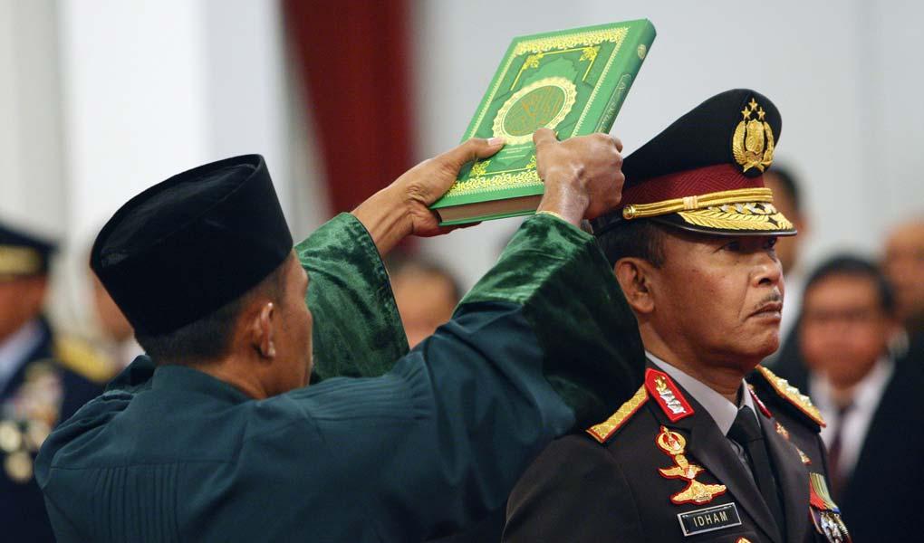 Presiden Jokowi Lantik Kapolri
