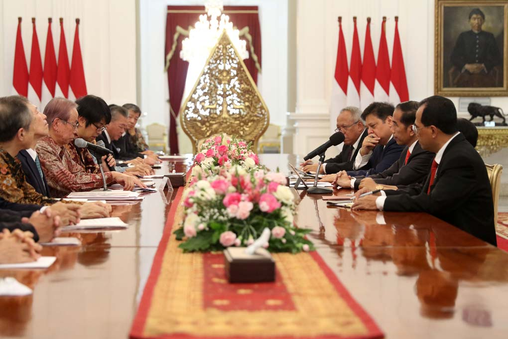 Presiden Jokowi Terima Delegasi Japinda