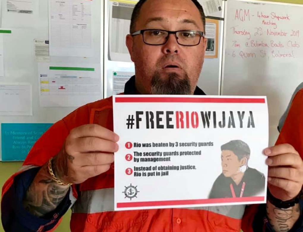 Aktivis SP JICT Rio Wijaya Mendapatkan Dukungan Nasional dan Internasional