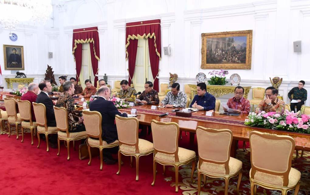 Presiden Jokowi Terima Delagasi US International DFC