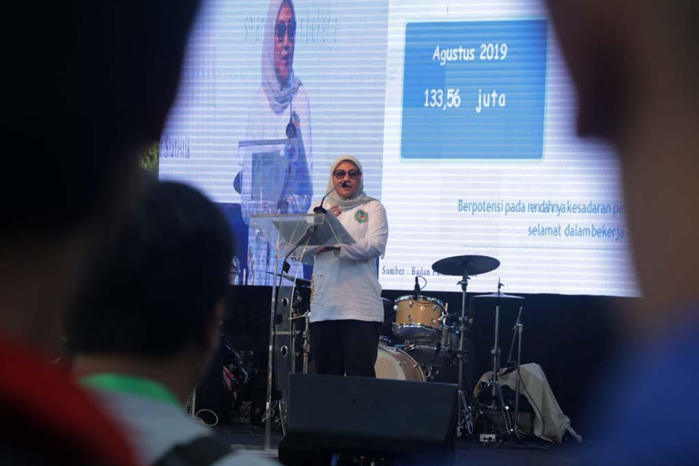 Menaker Ida Canangkan Bulan K3 Nasional Tahun 2020