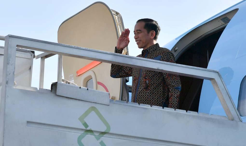 Presiden Jokowi Bertolak Menuju Abu Dhabi
