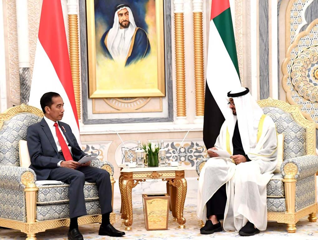 Presiden Jokowi Disambut Upacara Kenegaraan di Abu Dhabi