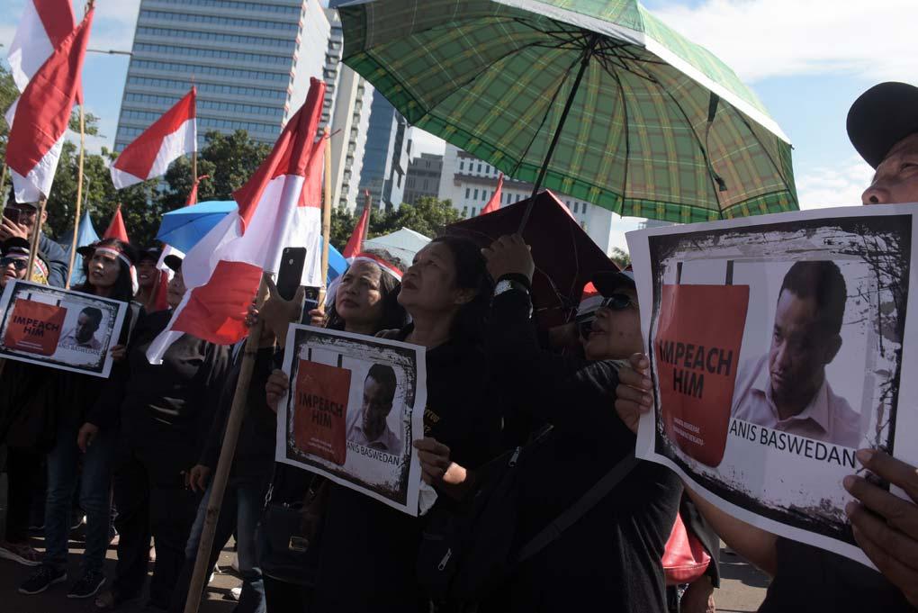 Massa Jakarta Bergerak Tuntut Anies Baswedan Mundur