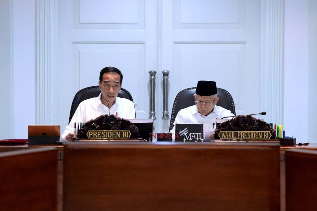 Presiden Jokowi Pimpin Ratas Omnibus Law Cipta Lapangan Kerja Dan Perpajakan