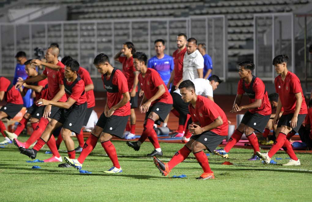 Latihan Perdana Timnas Indonesia Tak Dihadiri Empat Pemain