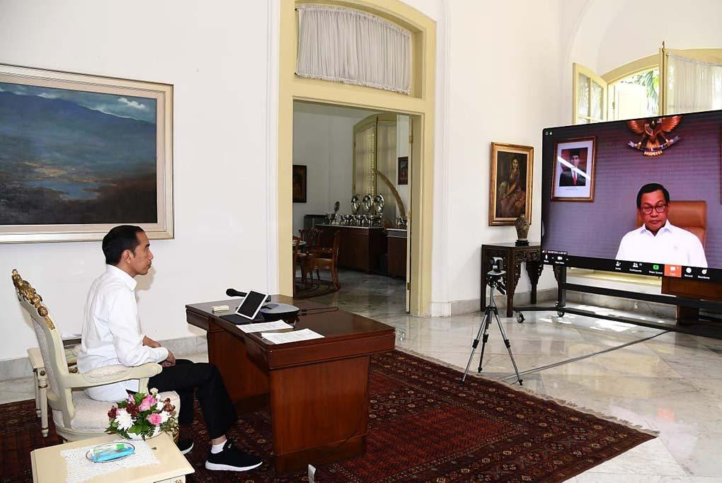 Presiden Jokowi Pimpin Ratas Penyelesaian Inpres Nomor 5 Tahun 2018