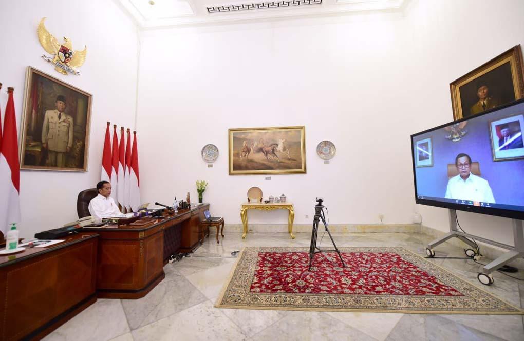 Presiden Jokowi Pimpin Ratas Terkait Laporan Tim Gugus Tugas COVID-19