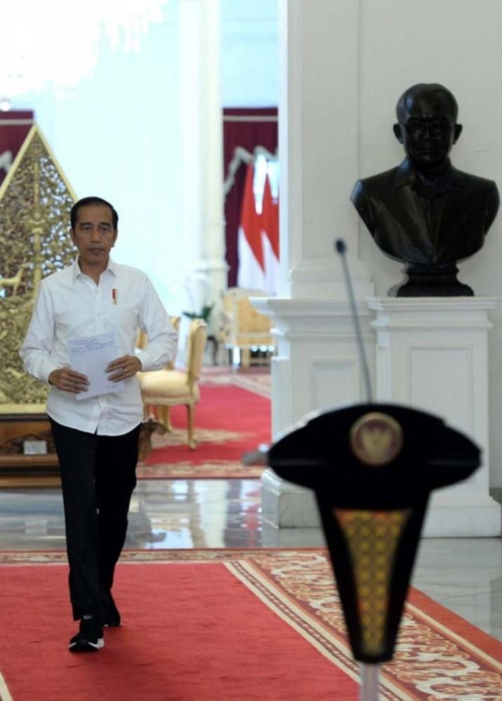 Presiden Berikan Keterangan di Istana Merdeka